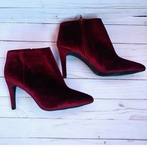 Old Navy Wine Faux Suede Booties